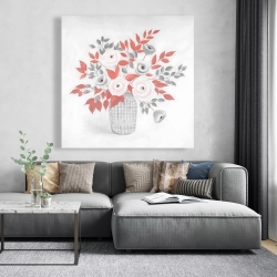 Canvas 48 x 48 - Flower illustration