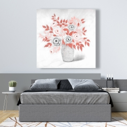 Canvas 48 x 48 - Coral flower illustration