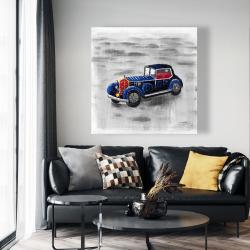Canvas 48 x 48 - Vintage blue toy car