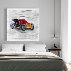 Canvas 48 x 48 - Vintage car with sunroof