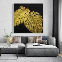 Canvas 48 x 48 - Gold monstera
