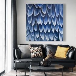 Canvas 48 x 48 - Plumage blue