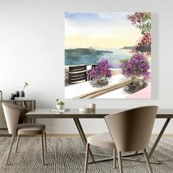 Canvas 48 x 48 - Mediterranean sea view