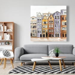 Canvas 48 x 48 - Amsterdam houses hotel
