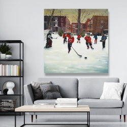 Canvas 48 x 48 - Young hockey players