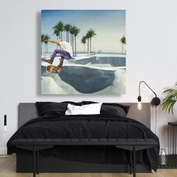 Canvas 48 x 48 - Skate park california