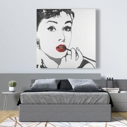 Canvas 48 x 48 - Audrey hepburn outline style