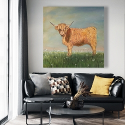 Canvas 48 x 48 - Daisy the highland cow