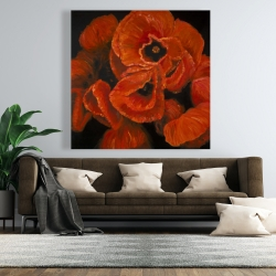 Canvas 48 x 48 - Poppy bouquet