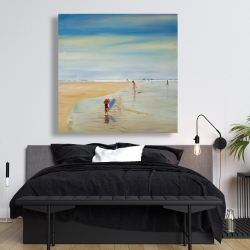 Canvas 48 x 48 - Children at the beach