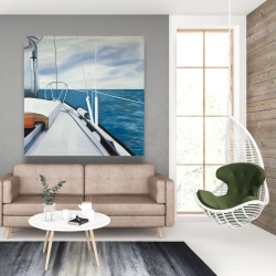 Canvas 48 x 48 - Sail on the water