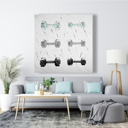 Canvas 48 x 48 - Dumbbells