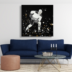 Canvas 48 x 48 - Hockey player in action