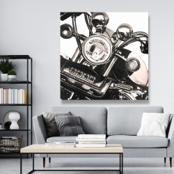 Canvas 48 x 48 - Realistic sepia motorcycle
