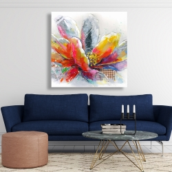 Canvas 48 x 48 - Abstract flower with texture