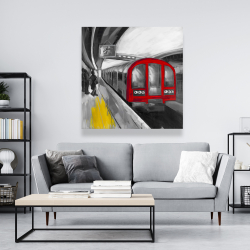 Toile 48 x 48 - Attente du métro