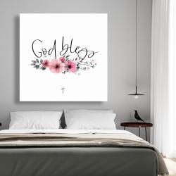 Canvas 48 x 48 - God bless