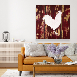 Canvas 48 x 48 - Rooster silhouette