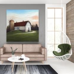 Canvas 48 x 48 - White barn