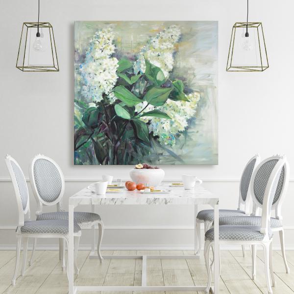 Canvas 48 x 48 - White lilacs