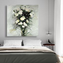 Canvas 48 x 48 - Lisianthus white bouquet