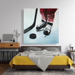 Canvas 48 x 48 - Young hockey player