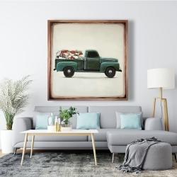 Canvas 48 x 48 - Flowers farm truck