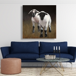 Canvas 48 x 48 - Two lambs