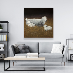 Canvas 48 x 48 - Sheep and lambs