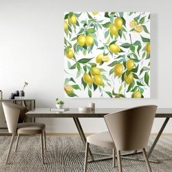 Canvas 48 x 48 - Lemon pattern