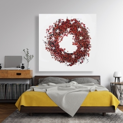 Canvas 48 x 48 - Red berry wreath