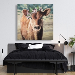Canvas 48 x 48 - Cute jersey cow