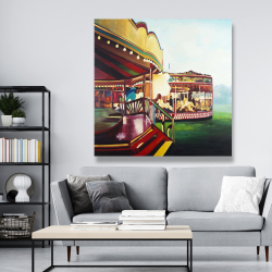 Canvas 48 x 48 - Carousel in a carnaval