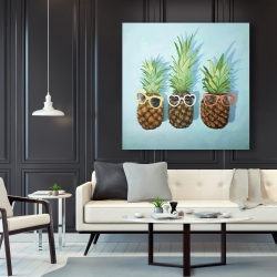 Canvas 48 x 48 - Summer pineapples