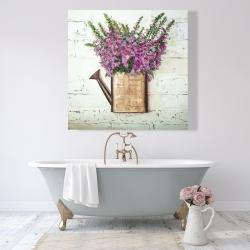 Canvas 48 x 48 - Purple foxglove flowers