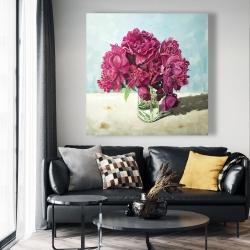 Canvas 48 x 48 - Fuchsia peony
