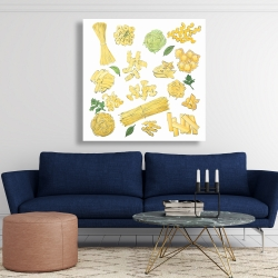 Canvas 48 x 48 - Various kind of pasta