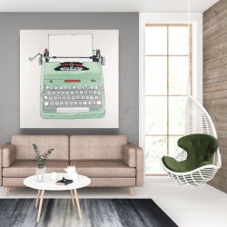 Canvas 48 x 48 - Mint typewriter