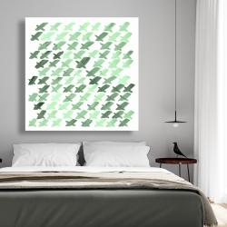 Canvas 48 x 48 - Green pattern x