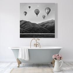 Canvas 48 x 48 - Air balloon landscape
