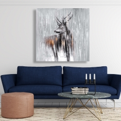 Canvas 48 x 48 - Deer in the forest