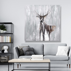 Canvas 48 x 48 - Abstract deer in the forest