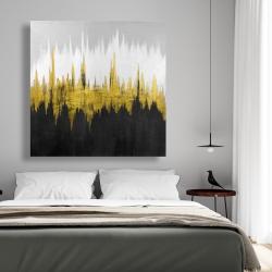 Canvas 48 x 48 - Golden zigzag