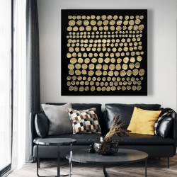 Canvas 48 x 48 - Dots on gold