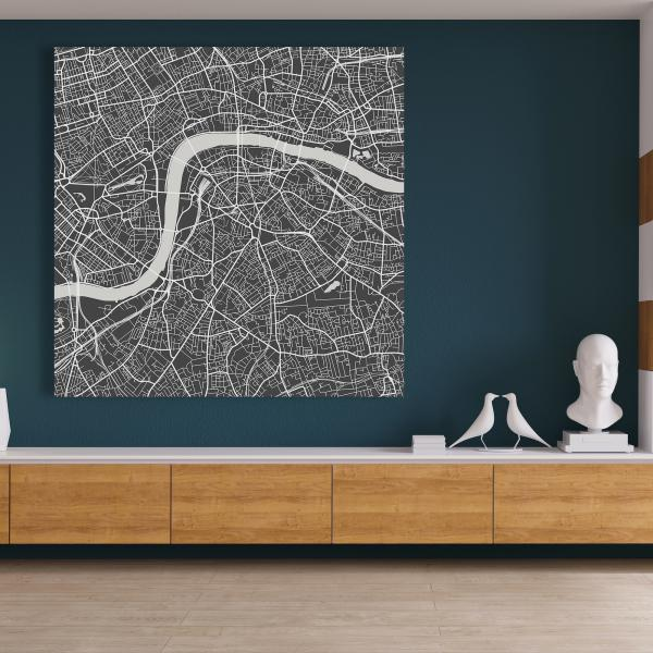 Canvas 48 x 48 - Graphic map of london