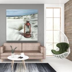 Canvas 48 x 48 - Lantern on the beach