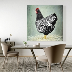 Canvas 48 x 48 - Wyandotte  hen