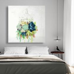 Canvas 48 x 48 - Bird cage with cactus