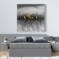 Canvas 48 x 48 - Gold sailboats