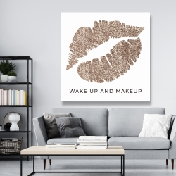 Canvas 48 x 48 - Wake up and makeup